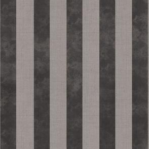 Modern vintage - textured stripes, gray