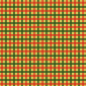 Tiny Gingham in Retro Christmas Green and Red
