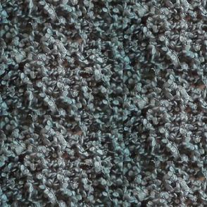 blue knit flower