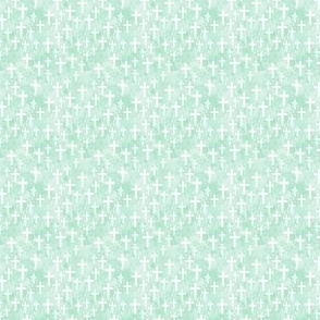 (micro scale) Crosses on mint watercolor - LAD20BS