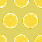 Lemon Slice on Citrus Yellow - Large