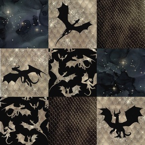 Dragon Patchwork - Pewter
