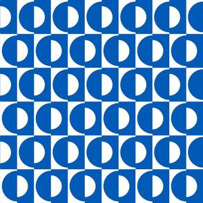 classic blue half dot
