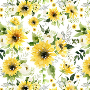 Large // Sunflowers and Roses