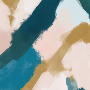 daubed abstract paintscape