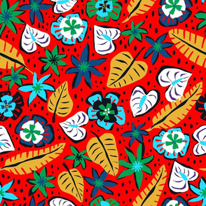 Tropical Abstract - Red