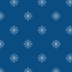 Mosaic tile in classic blue