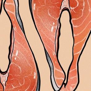 Salmon Cutlet on Peach, XL