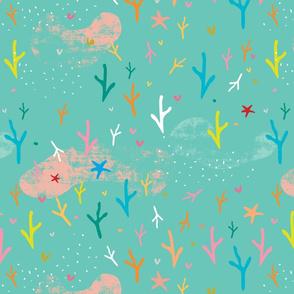 Coral teal