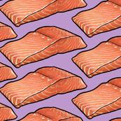 Salmon Fillet on Purple, XL