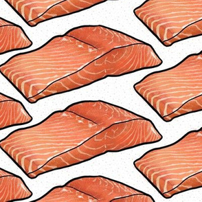 Salmon Fillet on White, Large