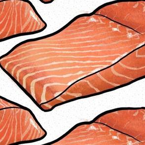 Salmon Fillet on White, XL