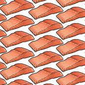 Salmon Fillet on White, Small