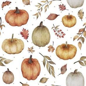 Fall Harvest Pumpkins // White