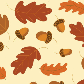 Acorns_Fall Fabric