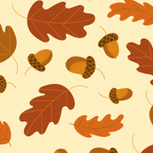 Acorns_Fall Fabric