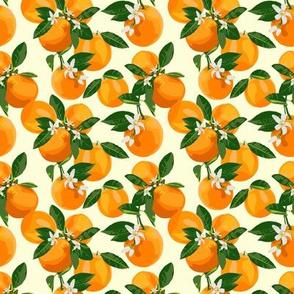 orange blossoms - small scale