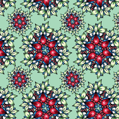 COUNTRY CLUSTER RED AND MINT GREEN 19.101407 Victoria Taylor