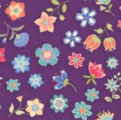 Flowers For You-floral-violet
