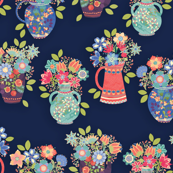 Flowers For You-navy