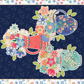 Flowers For You-fat quarter panel