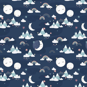 Love you to the moon and back - w/o text - navy - small