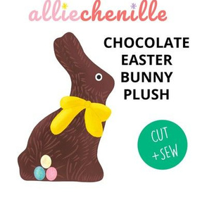 Chocolate Easter bunny plush CUT AND SEW