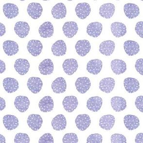 purple chestnut polkadots