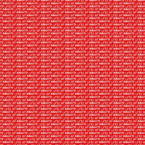 little bit naughty red micro