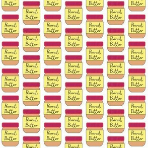tiny peanut butter jars