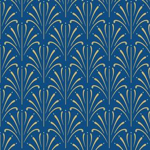 Art Nouveau Fans | Classic Blue