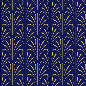 Art Nouveau Fans | Navy