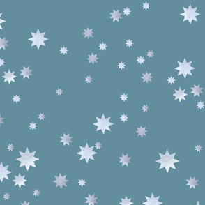 Silver stars on gray background