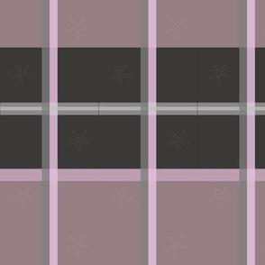Gray Pink Plaid
