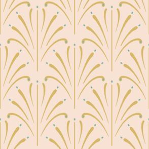 Art Nouveau Fans Large | Blush