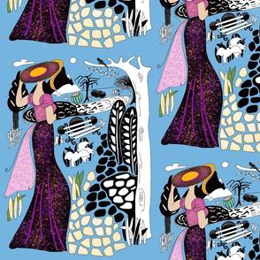 Lady by the Lake Wallpaper