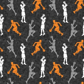 (small scale) basketball - basketball players - orange & grey - LAD20