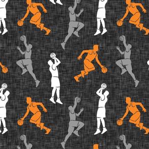 basketball - basketball players - orange & grey - LAD20