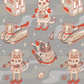 Cat Bots in Space in Space Gray