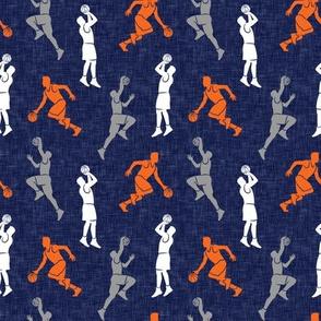 (small scale) basketball - basketball players - blue, orange,  grey - LAD20