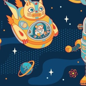 Cat Bots in Space