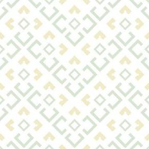 Geometric green&yellow_136