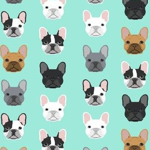 SMALL - French Bulldogs french bulldog mint sweet dog puppy puppies dog lovers frenchie owners crafts