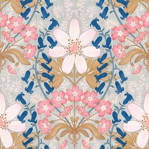 """English Blooms Art Nouveau 24"""""""