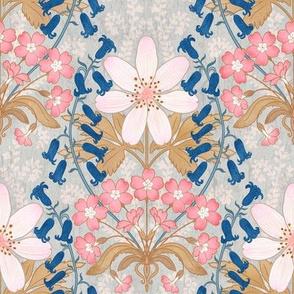 """English Blooms Art Nouveau 8"""""""