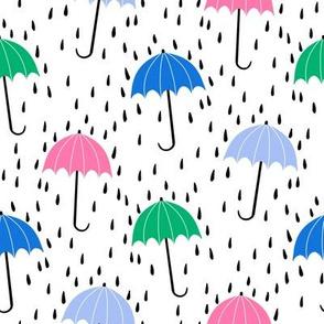umbrella fabric - umbrellas, red umbrella, umbrellas and rain, rain shower, rain - pastel brights