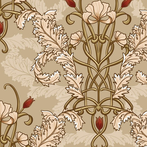 Art nouveau large scale wallpaper