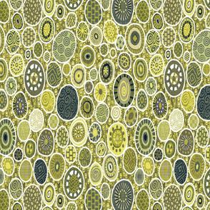 Art Nouveau Impressions ( emerald)B0250