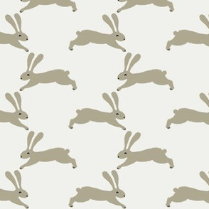 easter rabbit fabric - easter fabric, rabbit fabric, nursery fabric, baby fabric - sage