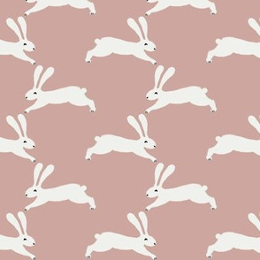 easter rabbit fabric - easter fabric, rabbit fabric, nursery fabric, baby fabric - rose pink